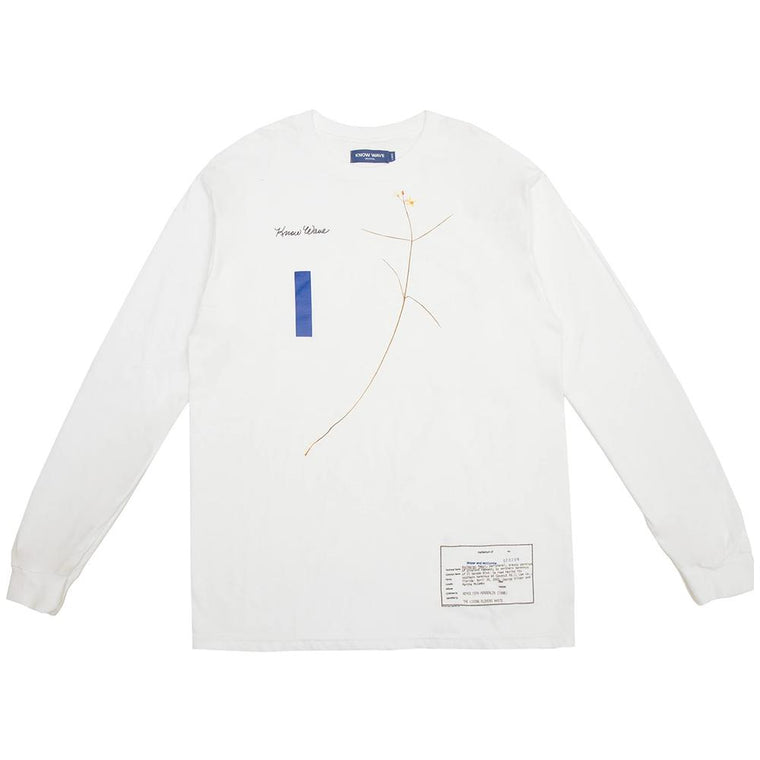 KNOW WAVE WILDER AND MCCOMBS L/S -WHITE