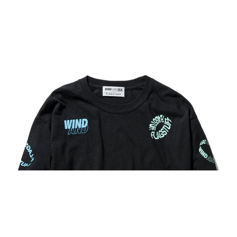 WIND AND SEA L/S TEE-BLACK