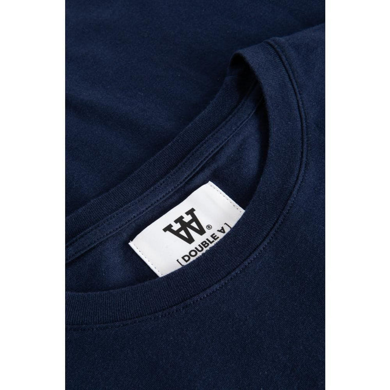 WOOD WOOD ACE T-SHIRT-NAVY