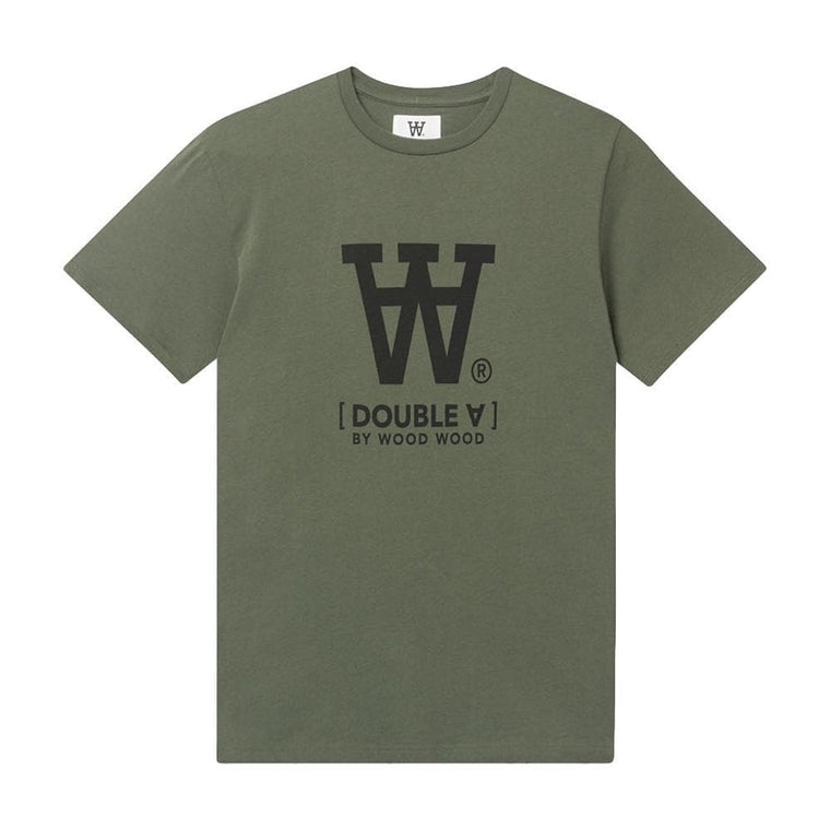 WOOD WOOD ACE T-SHIRT-OLIVE