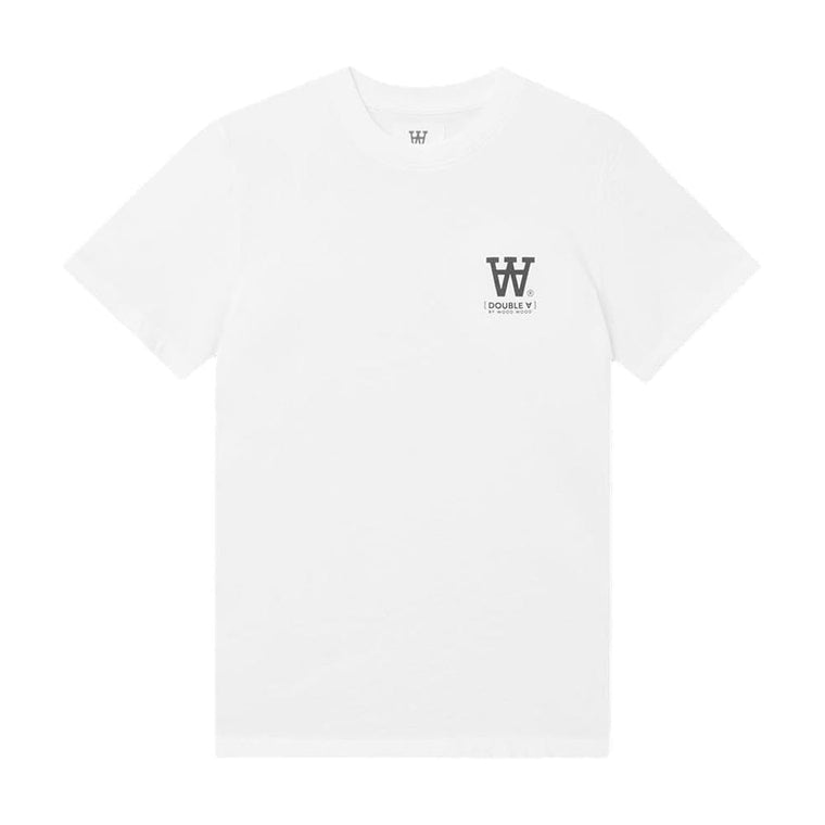WOOD WOOD ACE T-SHIRT-WHITE