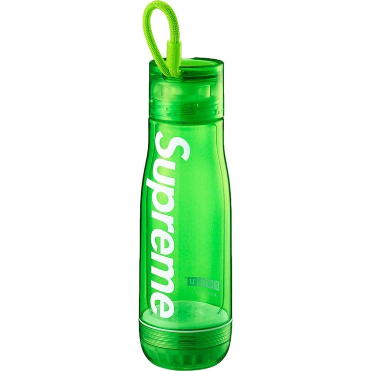 SUPREME ZOKU GLASS CORE 16 OZ. BOTTLE-GREEN