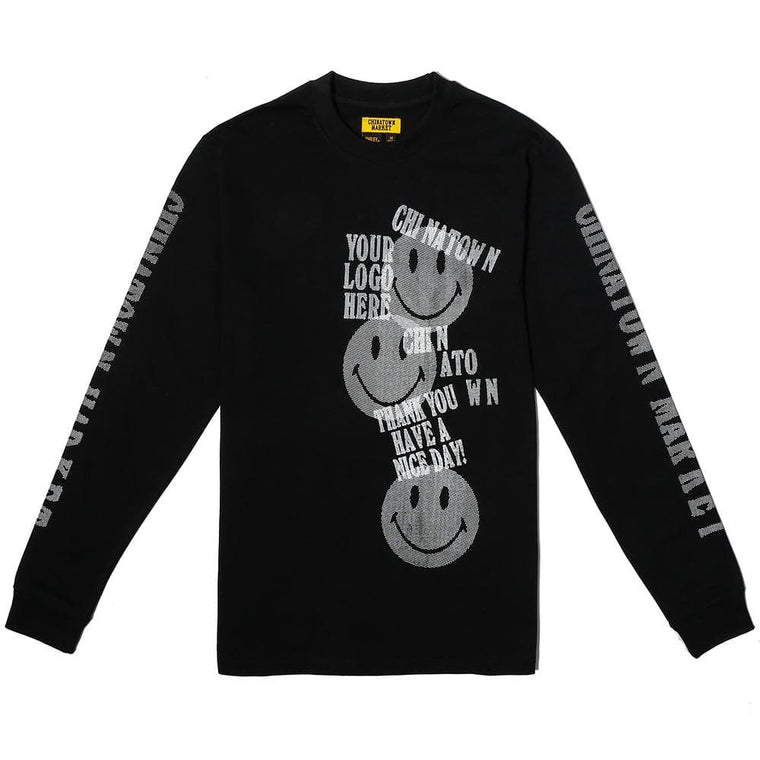 CHINA TOWN MARKET PRINT GUN LONG SLEEVE -BLACK