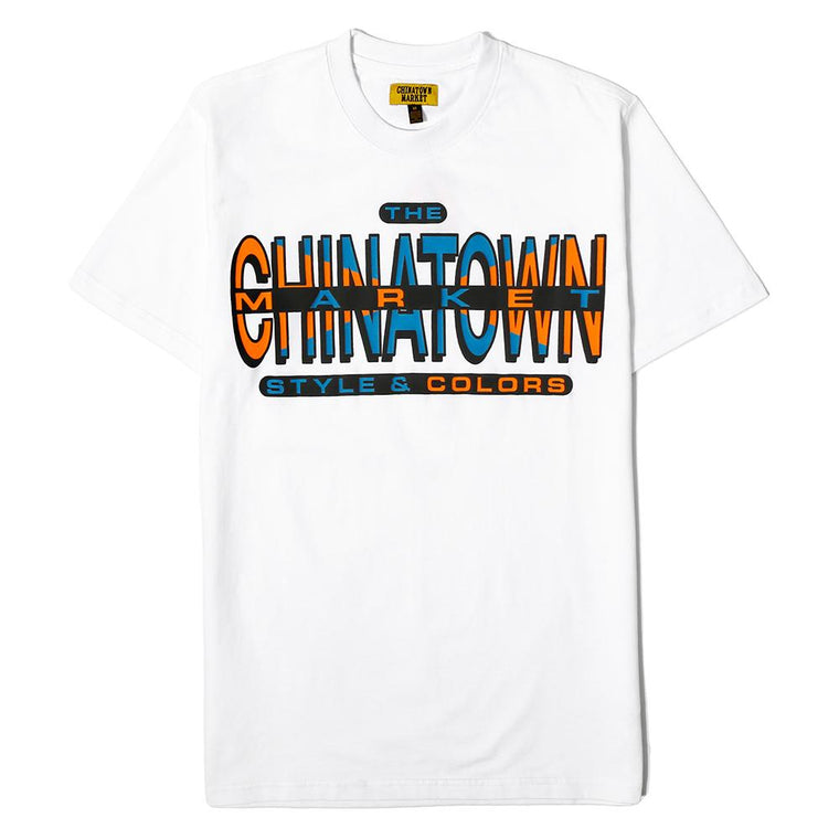 CHINA TOWN MARKET CROSS COLORS T-SHIRT -WHITE