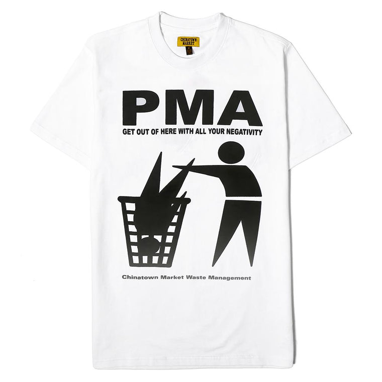 CHINA TOWN MARKET PMA T-SHIRT -WHITE