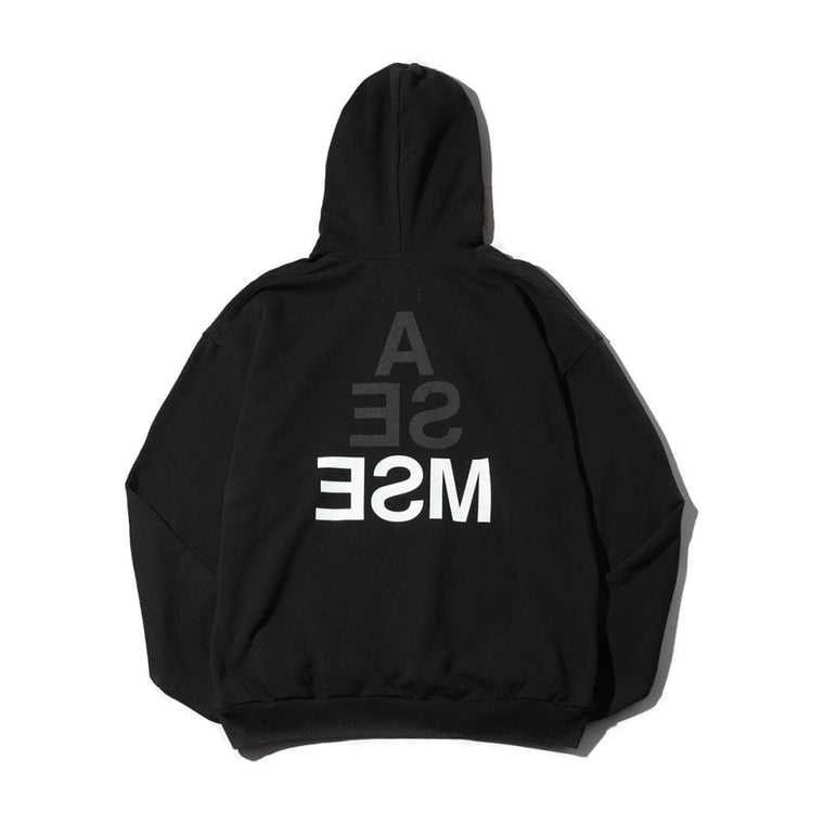 MAGICSTICK WIND AND SEA X MAGIC STICK MIL LOGO HOODIE-BLACK