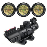 Overlord Tactical Operation Torch: red, green, blue reticles. 4X magnification; 32 MM obj. lens. Fog proof, water proof, dust proof. Pictainny/weaver integrated rail base.