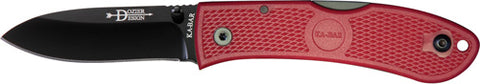 "Ka-bar Dozier Folding Hunter 3"" Red"