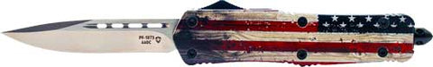 "Templar Knife Large Otf Wood - Us Flag 3.5"" Silver Drop Point"