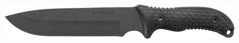 "Schrade Knife Frontier - 7"" W-sheath-stone-ferro Rod"