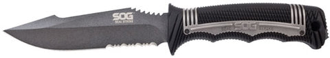 "Sog Knife Seal Strike 4.9"" Fxd - Black Serrated w/molded Sheath"