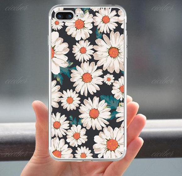 Flower Soft Silicone Phone Cases Cover for Iphone