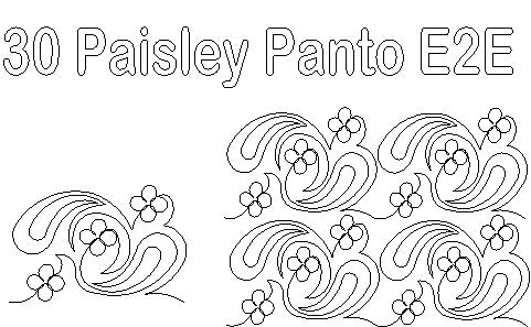 Paisley Flowers Pattern Longarm Quilting