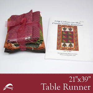 Anderson Fabrics Table Runner Quilt Kit Log Cabin in Pines