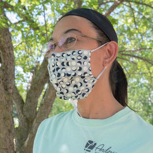 Designer mask with adjustable functions. Outdoors and active lifestyles.