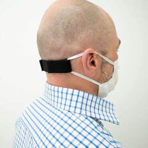 Ear relief band reduces ear pain caused by prolonged use of mask.