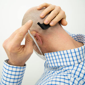Adjustable band to reduce ear pain from face masks.