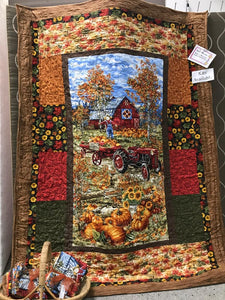 "Fall Farm Lap Quilt Kit - 47"" x 61"""