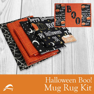 Mug Rug Quilting Kit from Anderson Fabrics Quilt Shop Halloween Design