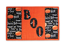 Load image into Gallery viewer, Halloween Boo Mug Rug Quilt Kit. Fun Fall, Autumn, Spooky Design with Pumpkins