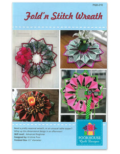 Fold and Stitch Wreath Pattern