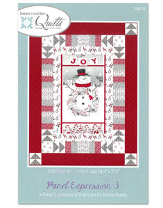 Panel Lap Quilt Kit or Wall Hanging Pattern with Snowman and Winter Design