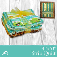 Load image into Gallery viewer, Frog Fun Strip Quilt Kit from Anderson Fabrics