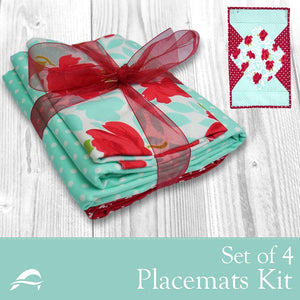 Placemats Quilt Kit Set of 4 - Pieced Tree Patterns
