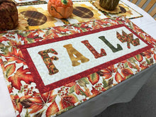 Load image into Gallery viewer, Fall lettering and leaves of orange, red and yellow