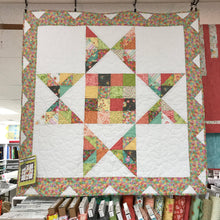 Load image into Gallery viewer, Finished Quilt Kit Barn Star 2 with Square Design