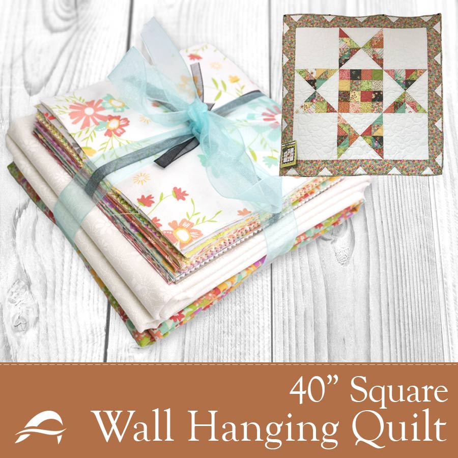 "Barn Star 2 Wall Hanging Quilt Kit - 40"" Square"