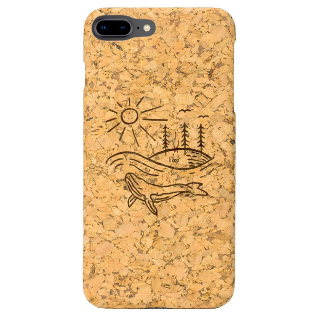 northones cork case Iphone 7/8 plus Whale World