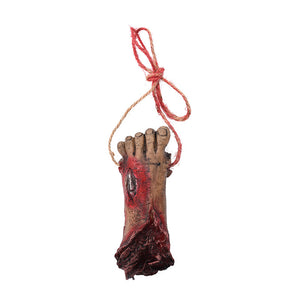 Bloody Fake Human Body Parts Realistic Severed Foot Horror Scary Prank Toys Foot Halloween Decoration Props - 3 Packs