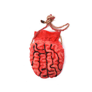 Realistic Severed Human Brain Prop Decoration - Scary Life Size Flexible Latex Rubber Fake Body Organs - 3 Packs