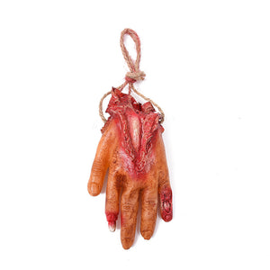 Bloody Fake Human Body Parts Realistic Severed Hand Horror Scary Prank Toys Hand Halloween Decoration Props - 3 Packs