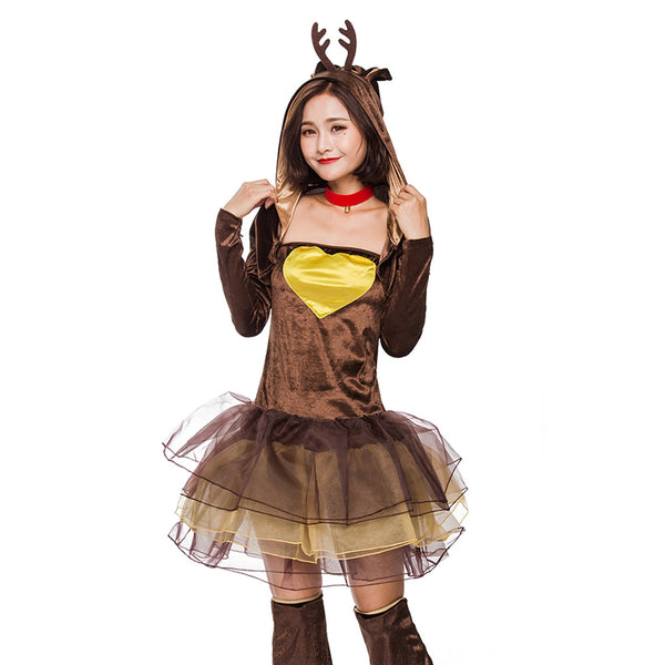 Women Christmas Elk Costume