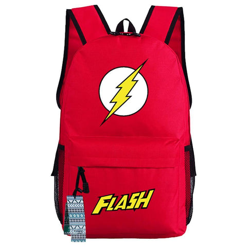 DC Movie Superhero The Flash Backpack Oxford Fabric School Travel