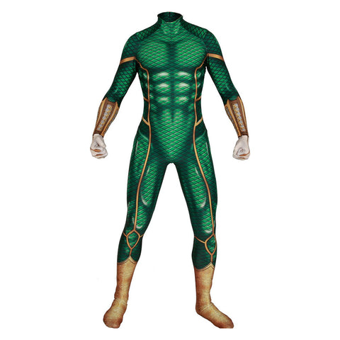 Men Halloween Spider-Man Far From Home Mysterio Jumpsuit Bodysuit Cosplay Costume Comic Style