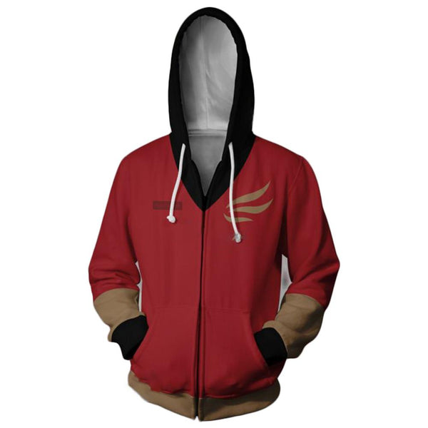 Unisex Claire Redfield Hoodies Resident Evil 2 Zip Up 3D Print Jacket Sweatshirt
