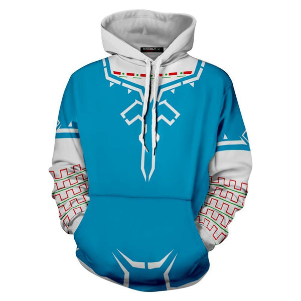 Unisex Link Hoodies The Legend of Zelda Breath of The Wild Pullover 3D Print Jacket Sweatshirt