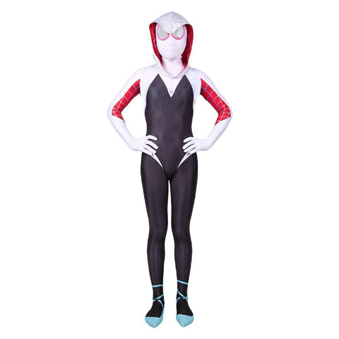 Kids Spider-Man Gwen Stacy Cosplay Jumpsuit Into The Spideverse Costume
