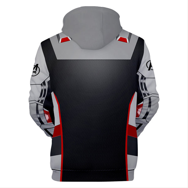 Adult Quantum Realm Hoodie Endgame Cosplay Costume Print Zipper Jacket Sweatshirt