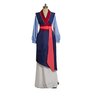 Halloween Women Disney Heroine Mulan Cosplay Dress Outfit