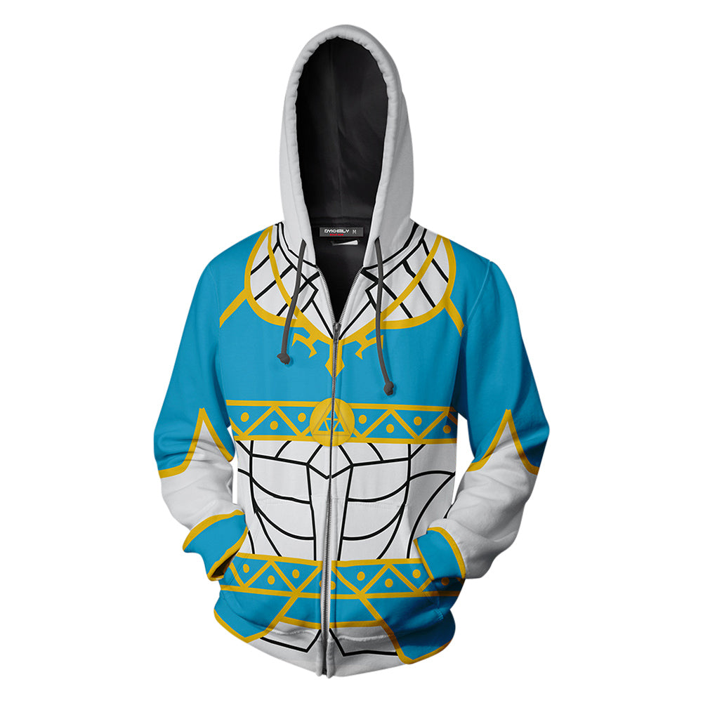 Unisex The Legend Of Zelda Princess Zelda Cosplay Zip Up Hoodie Jacket