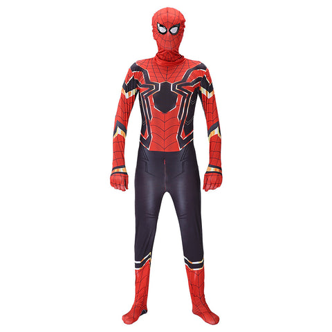 Adult The Avengers Endgame Deluxe Iron Spider-Man Cosplay Jumpsuit Costumes 3D Style