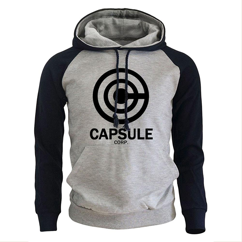 Dragon Ball Z Unisex Anime Hooded Pullover Sweater Hoodie Capsule Corp Hoodie