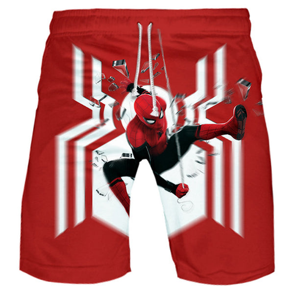 Spider-Man Far From Home Cosplay Costume 3D Print Short Pants