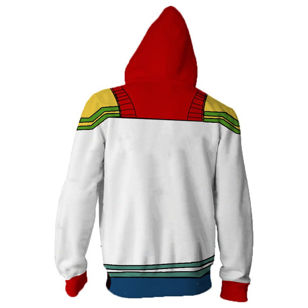 Teen Hoodie Boku No Hero My Hero Academia Fatgum 3D Zip-Up Sweatshirt Unisex