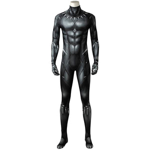 Men Halloween Black Panther T'Challa Cosplay Jumpsuit Carnival Superhero 3D Printed Bodysuit Outfits
