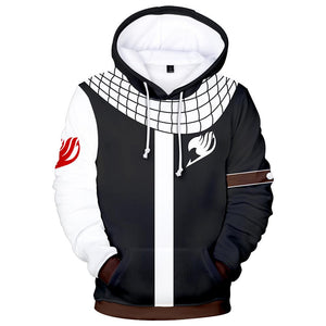 Fairy Tail Natsu Dragneel Hoodies Sweatshirt Costume 3D Printed Jacket Coat Unisex